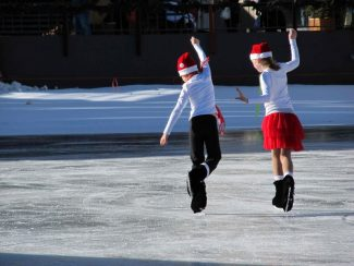 Special to the DailyAbout 35 skaters, ages 6-21, from the Denver Figure Skating Club, will perform free choreographed holiday shows at Keystone Saturday.
