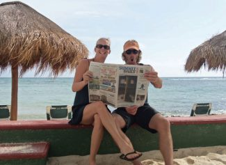 Cori and Shawn chillin' with the SDN on the Riviera Maya.