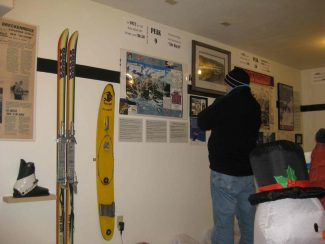Summit Daily/Mariana WenzelThe Summit Ski Exhibit in Breckenridge celebrates rarities such as vintage clothing, skis, photographs and other objects. It includes a Sno-Surfer, an early snowboard from the 1960s.