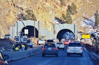 Special to the Daily/David GidleyConstruction on the Interstate 70 Twin Tunnels widening project will result in lane closures this week.
