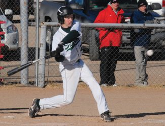 Thomas DeBoneville hits a home run during a game against Grand Junction High School in 2013. The senior shortstop was named to the 4A Western Slope First Team All-Conference team this season with a .488 average and 19 stolen bases, a leagure record.