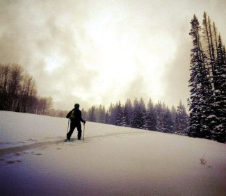 Randy Young/Special to the Post Independent Doug Stenclik, co-owner of Cripple Creek Backcountry in Carbondale, heads out for a cloudy day ski tour.
