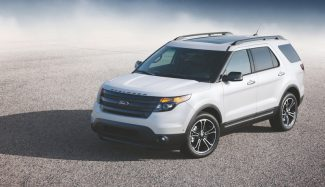 2013 Ford Explorer Sport: The first-ever high-performance Explorer model features a 350 horsepower 3.5-liter EcoBoost V6, structural chassis enhancements for improved dynamics, and sporty design cues. (03/28/12)