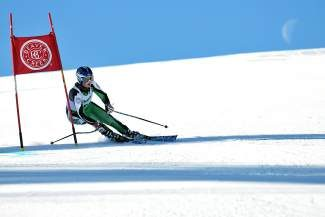 Summit's Danielle Moulten charges past a gate in Friday's high school league GS race at Beaver Creek. Moulton finished fifth on the day.