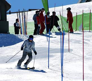 A participant in an alpine skiing event competes during the 35th annual Summit County 50+ Winter Games in Feb. 15 at Keystone. The Games return to town this week with events in Keystone on Monday and the Frisco Nordic Center on Tuesday.