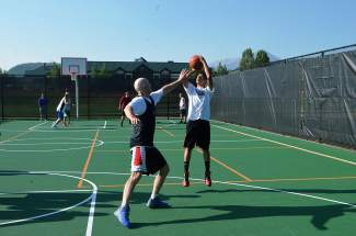 A Summit High basketball player takes a shot during the annual three-on-three basketball tournament at the Silverthorne Recreation Center. The tourney returns to the rec center on July 30, with registration still available online through www.3on3atthesummit.com.