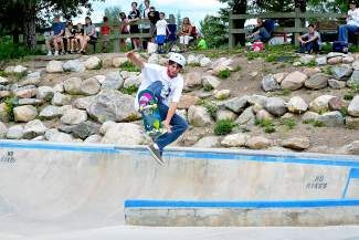 A skateboarder airs off a feature in the Silverthorne Skate Park.  The skatepark will host the first Silverthorne Community Skate Day competition Saturday, Sept. 6.