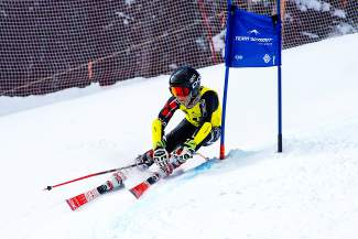 Team Summit U-14 skier Jack Reich rounds a gate during the Bolle Age Class Open gian slalom races on Jan. 9 in Breckenridge.