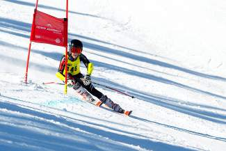 Team Summit U-14 skier Jack Reich makes a turn en route to his second win in two days at the Bolle Age Class Open giant slalom races in Breckenridge Jan. 10.