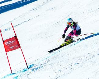 Team Summit's Anna Rodli rounds a gate during the Bolle U-14 Super-G at Breckenridge on Jan. 24.