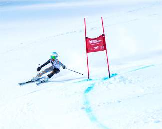 Team Breck's Jenna Sheldon makes a turn during the Bolle U-14 Super-G races at Breckenridge on Jan. 23.