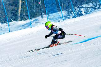 Team Summit's Gisele Thompson skis in the Smartwool Cup at Vail last season. Thompson was one of the club's three female skiers to qualify for the U-16 Junior Championships, held March 12-17 in Vail.