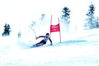 Team Summit's Jack Reich at an event earlier this winter. Reich is one of six U-14 skiers with Team Summit to qualify for the U-14 Junior Championships from March 15-19 at Winter Park.