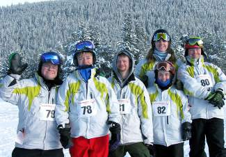 The Summit County Tigers Special Olympics team at the Winter Games in Copper on Feb. 28. The team had a stellar day, with nine medals between the five participaing team members. Left to right: Steven Kennedy, Charlie Fazenden, Zeke Moran, Caroline Willis, Kelly Faber and Vital LaRocque