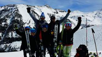 The Loveland Ski Club U-10 crew at the top of Telluride before the USSA U-10 Ski Championships from March 12-13.