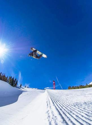 Team Summit's Blake Moller trains in the superpipe at Breckenridge. The 15-year-old Team Summit snowboarder took fourth behind Danny Davis at the Rev Tour stop in Seven Springs, Pennsylvania to earn an invite to the World Rookie Tour finals in Austria.
