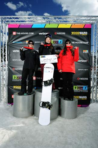 The female podium for the Nor Am boardercross finals at Copper on April 3 (left to right): 1. Karen Iwadare (JPN) 2. Danielle Steinhoff (USA) 3. Annabel Tudhope (AUS). Winners split a prize purse of $2,500.