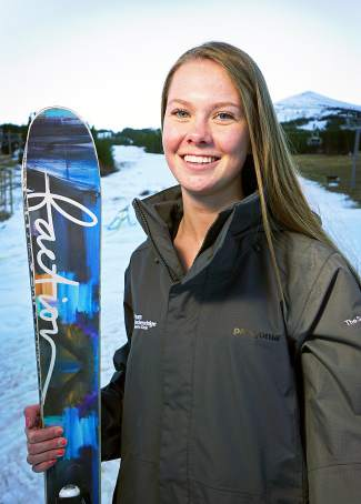 Team Breck women's open class freeskier Bridget O'Brien.