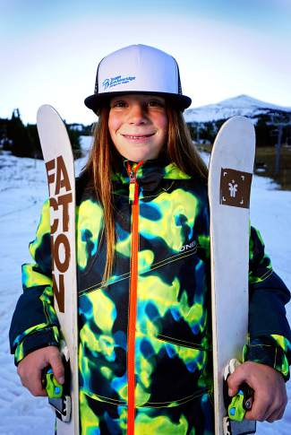 Team Breck U-10 freeskier Axl Bonnenberger.