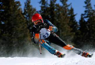 Team Summit Colorado alpine skier Zach Elsass at a competiton last season.