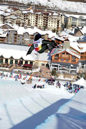 Team Summit's Blake Moller at a snowboard halfpipe competition in Copper last season.