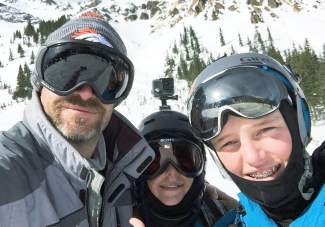 JB, Roan and Dade Bissell (from left) at Silverton on March 4, 2016. At the start of the season, the Bissell family set their sights on skiing at least one full day at all 29 Colorado ski areas and completed the journey at Arapahoe Basin on April 24 — dad JB Bissell's birthday.