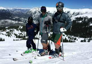 Roan, JB and Dade Bissell (from left) at Copper Mountain near the end of their adventure on April 3, 2016. At the start of the season, the Bissell family set their sights on skiing at least one full day at all 29 Colorado ski areas and completed the journey at Arapahoe Basin on April 24 — dad JB Bissell's birthday.