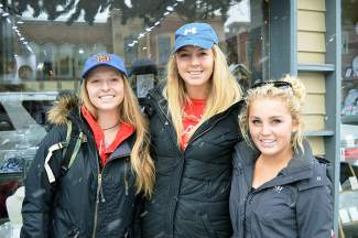 From left to right: Madison Gilberte, from Frisco, and her friends Kayla Rockey and Kristen Simpkins, both from Michigan.