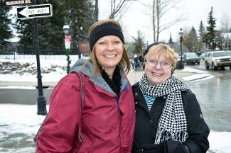 Becky, left, and Naomi Almany are visiting Breckenridge from Texas.