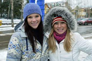 Jessica, left, and Brittany Grecoare visiting Summit County from Louisiana.