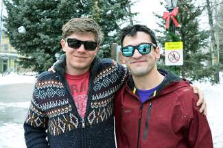 Ian McEvoy, left, and Rob Carpenter hang out in Breckenridge on Thursday, Jan. 7. McEvoy is a ski instructor, and Carpenter is visiting him from Rhode Island.