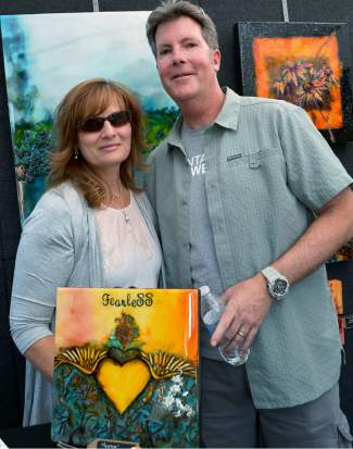 Artist Dawn Martin and Chris were on hand to meet, greet and sell Dawn's paintings as part of this year's Fall Fest in Frisco.