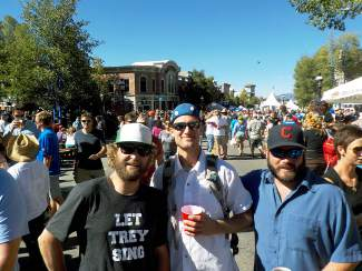 Ben, Mark, and Joe rage in the street at Breckenridge's Oktoberfest celebration Sept. 11-13.
