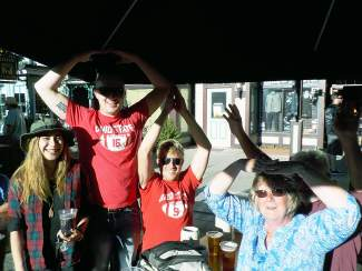 The Ohio State crew — Emily, Nick, Ben, Vickie, and Dick — at Breckenridge's Oktoberfest celebration, Sept. 11-13.