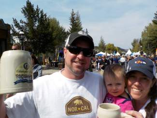 Ricardo, Reyna, and Traci at Breckenridge Oktoberfest, Sept. 11-13.