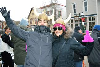 Mike Burbelo and Jess Walker came to Ullr Fest from Daytona, Florida.