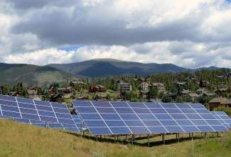The solar arrays located near the Soda Creek Open Space and Wetlands behind Summit Cove Elementary caused conroversy this year, and the school board eventually voted to remove them.