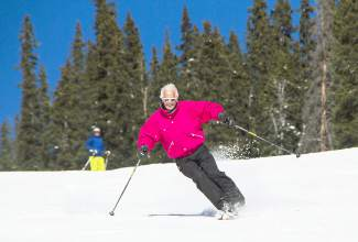 Perfect form from skiing legend Trygve Berge at Keystone Resort. Berge, a former Olympian and Norwegian downhill champion, helped open Breckenridge Resort in the '60s.