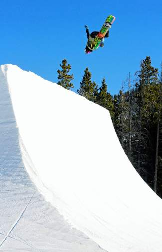 Crippler Japan on the big hip. Woodward at Copper Mountain, Colorado.