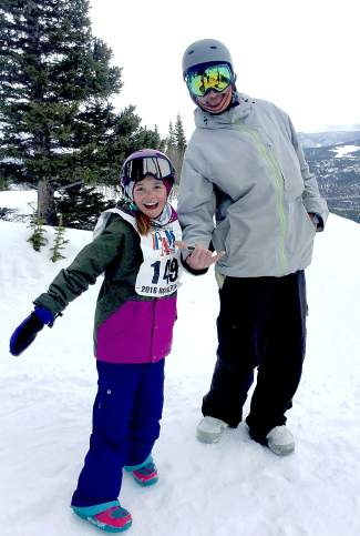 Jay and Merrick Neerhof at Breckenridge after the Royal Flush Breck All-Mountain Challenge, a big-mountain contest for youth held at Contest Bowl on March 12.