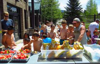 June 3 was free admission day at the Silverthorne Recreation Center, which also meant free hot dog day. Not a bad way for local youngsters to start their first day of summer vacation.