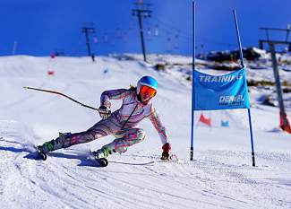 Bombing gates half a world away: Team Breck alpine skier Katy Kropatsch whips through the course on her way to a first-place finish at the King's Cup, an annual alpine event hosted at Afriski Mountain Resort in South Africa. Kropatsch and fellow Team Breck racer Stella Larsen, both U-16s, took first and second during the competition July 18-19.