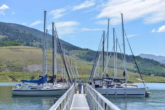 Calm before the regatta: The Dillon Marina and Dillon Yacht Club hosted nearly 300 sailboats for the Dillon Open.