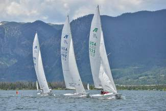 Three of a kind: Sailboats in the Dillon Open regatta.