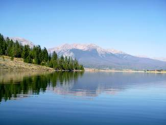 Still as glass: Local paddler Jamie Airey caught Dillon Reservoir without another soul on a calm, clear day in mid-September.
