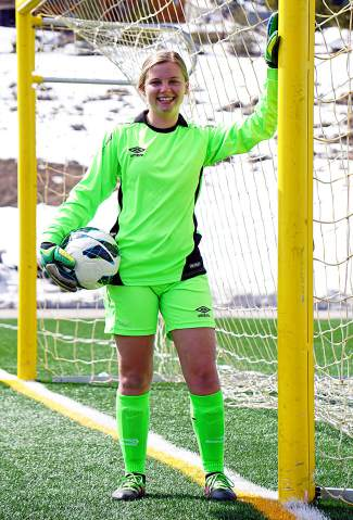 Summit High senior goalkeeper Lexi VanderHoeven.