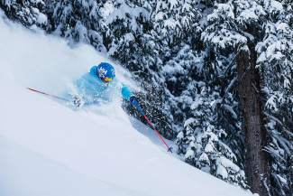 Skier Bruce Ruff takes advantage of a powder day at Arapahoe Basin on Tuesday, March 15. The local ski area reported 9 inches of fresh powder overnight Monday to Tuesday.