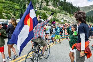 Costumed cyclists, flag-bearers and thousands more came to Arapahoe Basin on Aug. 18 to catch the only mountain-top finish of the 2015 USA Pro Challenge.