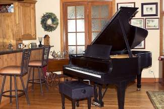 This 1922 Steinway B piano was donated to the Alpenglow Chamber Music Festival by the Barber family of Denver. Money raised from the sale of the piano will help fund future events for the Chamber Music Festival.
