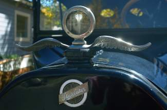 This antique moto meter adds a touch of authenticity to Tom Wheeler's 1917 Studebaker.